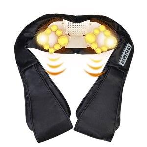 Image 2 - 熱ディープ混練赤外線uシェイプ電気指圧マッサージバックネックショルダーボディで車/ホーム赤外線massagem