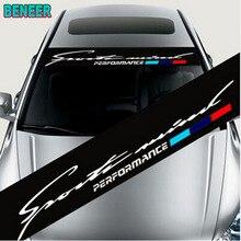 Car sunshade sticker car windscreen windshield sticker For BMW M E46 E60 E39 E70 E83 E85 E87 E90 F10 F20 F30 1 2 3 5 7 X Serier