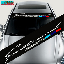 Pegatina de sombrilla para coche, pegatina de parabrisas M para coche BMW E46 E60 E39 E70 E83 E85 E87 E90 F10 F20 F30 1 2 3 5 7 X Serier