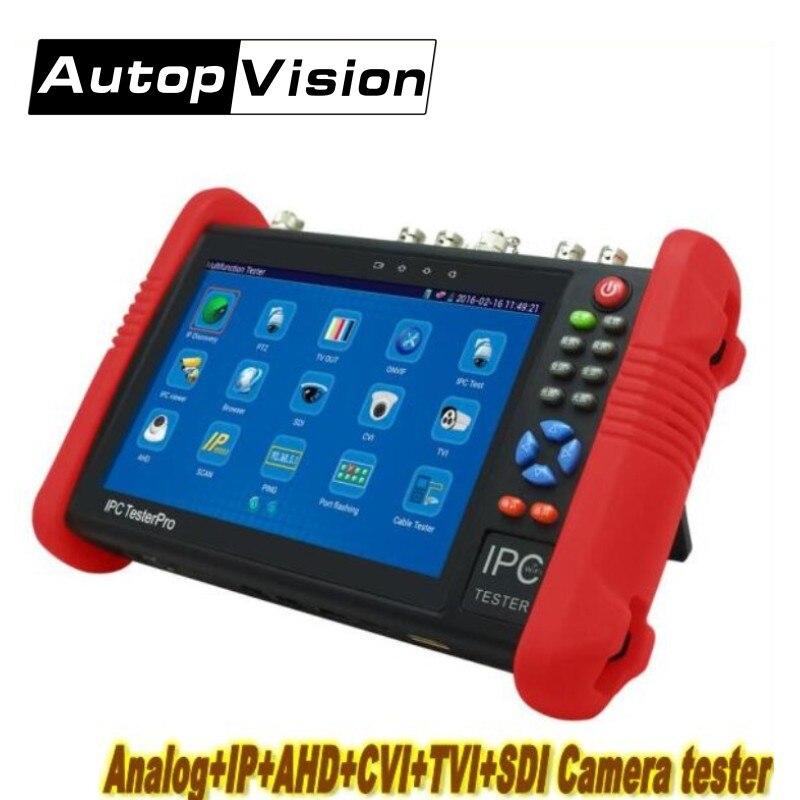 DHL Free IPC9800 7 Inch IP Camera Tester IP CVBS TVI CVI AHD SDI CCTV Tester Monitor with WIFI Onvif PTZ Control PoE HDMI out