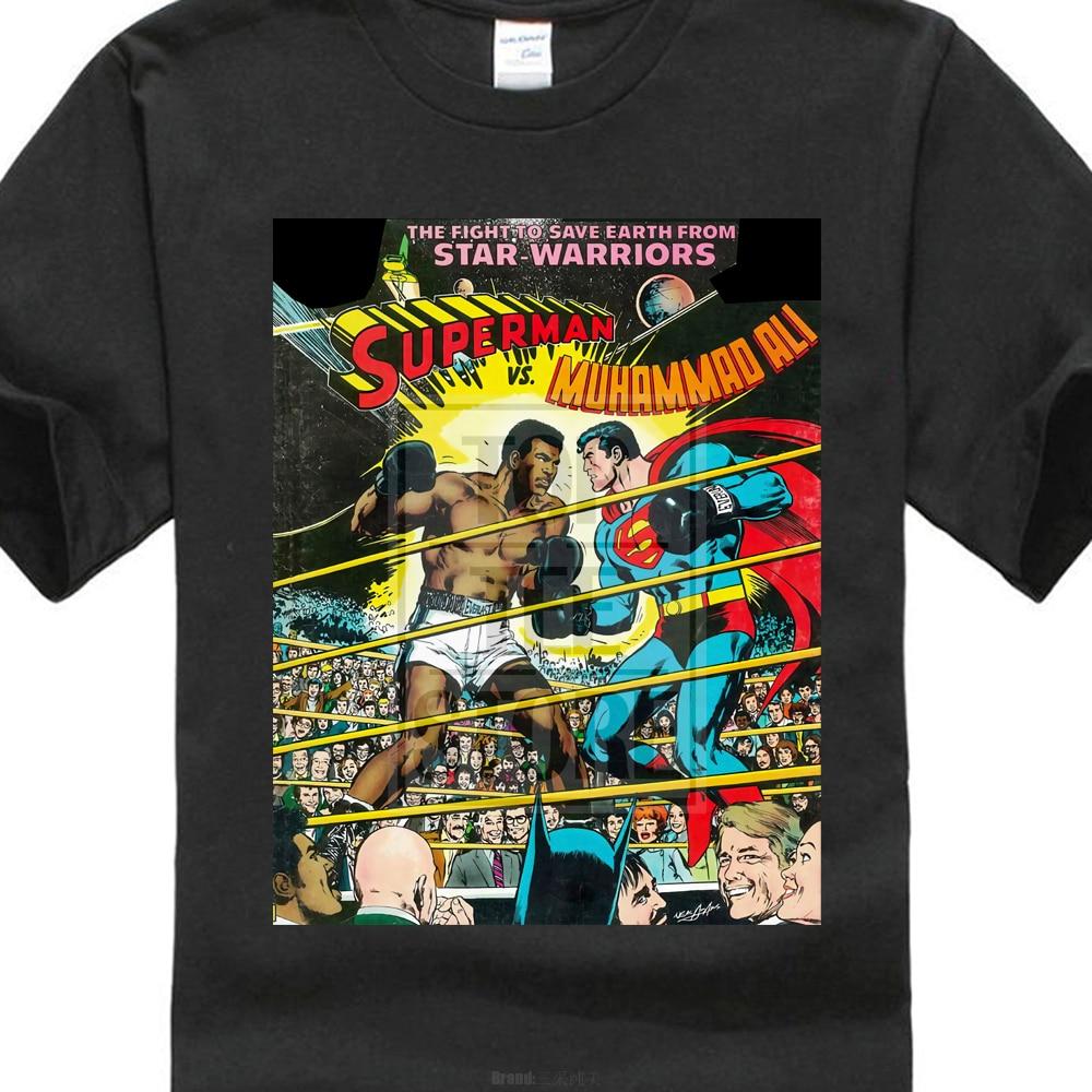 Superman Vs Muhammad Ali Comic Cover Men'S  T Shirt Black Size S To 4Xl