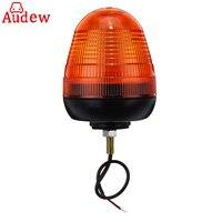 1Pcs Universal Car LED Rotating Flashing Amber Beacon 1 Bolt for Truck Tractor Warning Strobe Light 12V/24V