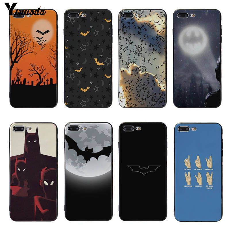 Half-wrapped Case Cellphones & Telecommunications Diplomatic Yinuoda Cartoon Bats Tree Moon Soft Silicone Cover Case For Iphone 8 8plus 7 7plus 6s 6splus 5 5s Se Xsmax X Xs Xr Professional Design