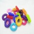 10 pc/lote laço elástico de cabelo elástico BandGirl telefone telefone anel de cabelo corda elástica rabo de cavalo de cabelo para menina
