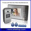 """7""""Color LCD Monitor Video Door Phone Doorbell Intercom RFID Keyfobs IR Camera,Calling,Intercom,Unlocking,Monitoring,1000user"""