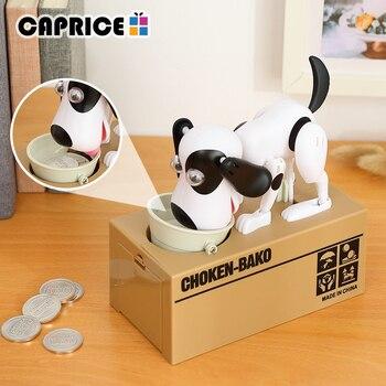 tirelire chien voleur blanc noir 3