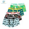 Pink Heroes 4pcs/lot Men Underwear Boxer Mens Underwear Cotton Roller Printing Colorsafe Boxers Cartoon Fashion Boxer Shorts