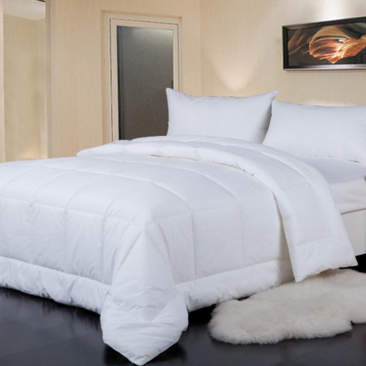 Всесезонные белый вниз Альтернативная стеганые одеяла гипоаллергенного полиэстера заполнить можно стирать в машине одеяло вставить или а...