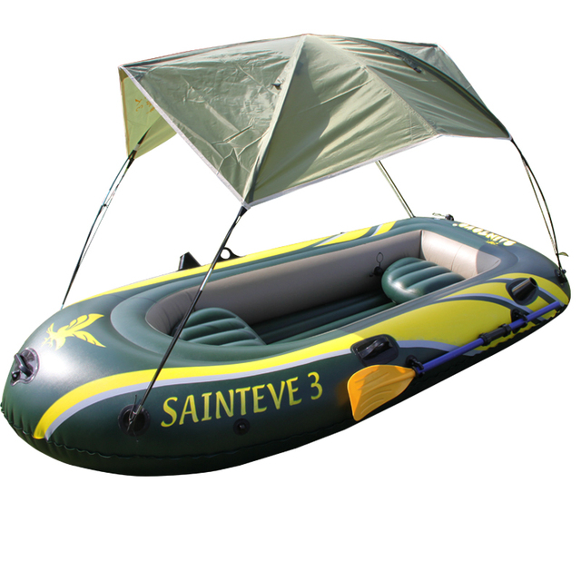 US $181 5  Thick hard bottom inflatable boat dinghy 3 person canoe yacht  fishing rubber Rowboat-in Rowing Boats from Sports & Entertainment on