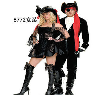 Black sexy pirate costumes halloween costumes for women Lace women adult pirate dress women Couple pirate  sc 1 st  AliExpress.com & Black sexy pirate costumes halloween costumes for women Lace women ...