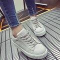 Nova Venda Top Outono Nova Chegada Das Mulheres Estudantes de Moda Plataformas de Placa Plana Sapatos Casuais Laço de Couro Fosco Respirável G039