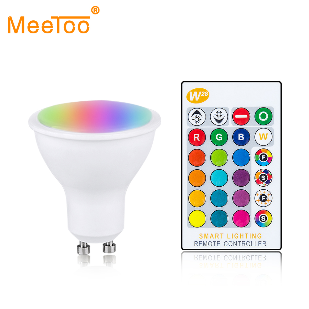 GU10 LED Lights Bulbs 10W Spotlight Bulb Lamp RGBW//WW 16 Colour Changing Remote