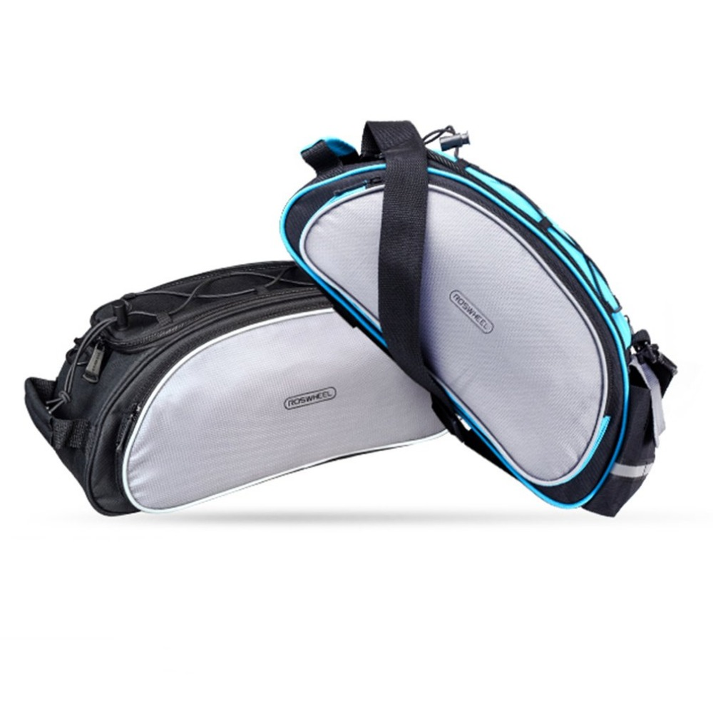 Multi-functional Bicycle Rear <font><b>Seat</b></font> Bag MTB Bicycle <font><b>Rack</b></font> Bag 13L Trunk Bag Shoulder Handbag Bag Pannier For Outdoor Riding New