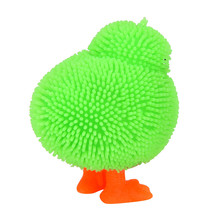 Squeeze 6CM Novelty Flashing Puffer Ball Stress Reliever Ball Relief Toy Novelty Splatter Vent Chickens Kids Funny Prank Gifts