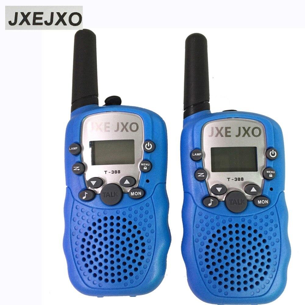bilder für JXEJXO 2 Stücke T-388 0,5 Watt 1,0 zoll LCD 5 KM Walkie Talkie, Baby Blue
