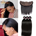 7A Brazilian Virgin Hair Silk Base Closure With Bundles Cheap Unprocessed Straight Human Hair  Bundles With Silk Base Closure
