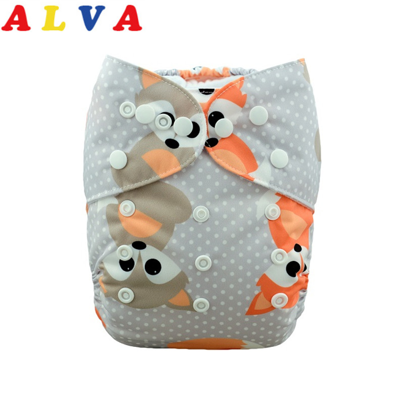 50pcs per Lot Alvababy Reusable Baby Cloth Diaper Washable Cloth Nappy with 50pcs Microfiber Inserts