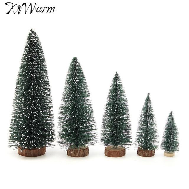 kiwarm mini rbol de navidad artificial fiesta adornos figuras miniaturas decoraciones de navidad en casa manualidades - Arbol De Navidad Artificial