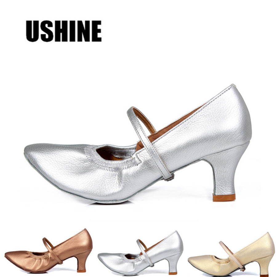Brown silver golden latin dance shoes woman zapatos salsa - Zapatos de baile tenerife ...
