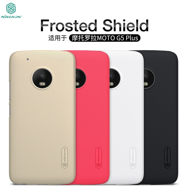 hot sale online d9434 467eb US $7.19 5% OFF|1 For MOTO G5 Plus Case For MOTO G5 Plus Cove NILLKIN Super  Frosted Shield Back Cover Case For MOTO G5 with retail package-in ...