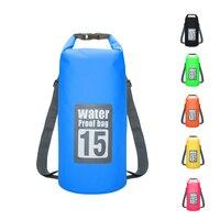 Водонепроницаемый сумка ПВХ водонепроницаемая сумка, для плавания пляжная дрейфующая Сумка на двух ремнях водостойкий мешок 10L 15L 20L