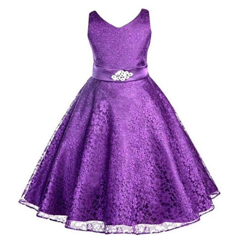 6-14 let Dívka šaty Děti Svatební družička Děti Dívky Šaty Léto 2016 Večerní párty Princezna Kostým Krajka Dívčí oblečení