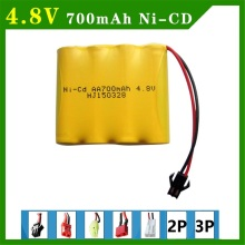 Ni-Cd 4.8 V 700mAh AA battery