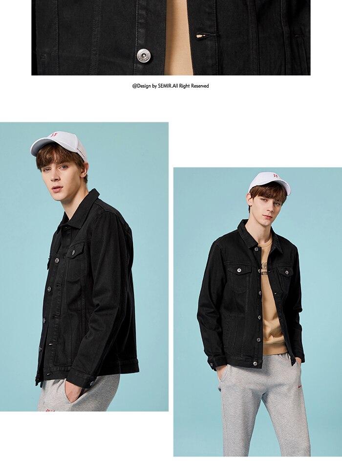HTB1zEenaG5s3KVjSZFNq6AD3FXaj SEMIR Men Denim Jacket Men Washed Denim Jacket Classic Denim Jacket with Collar for Men Casual Fashion Spring Autumn Clothes
