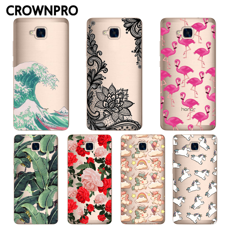 timeless design 6258d 0c521 Soft Silicone Huawei Honor 5C Case Cover NO Fingerprint FOR RU Painted Back  Protective Case Huawei Honor 5C Phone Cases