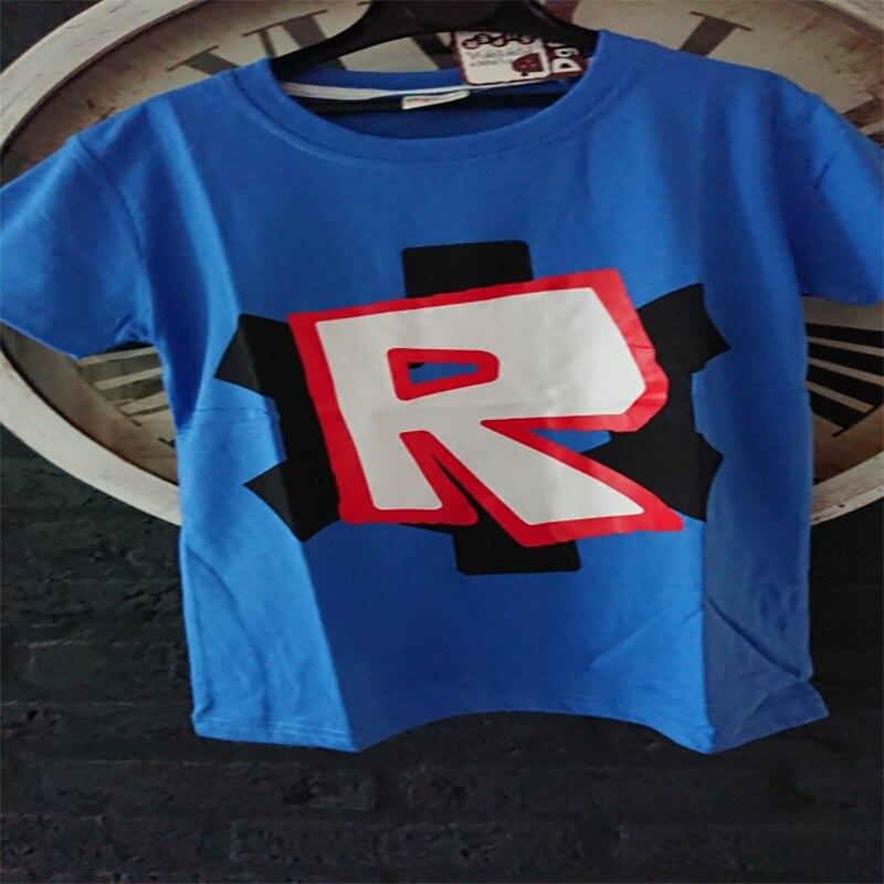 2018 New Summer Boys T Shirt Roblox Stardust tshirt Cotton Cartoon T-shirt boy Rogue One Roupas Infantis Menino Kids Costume
