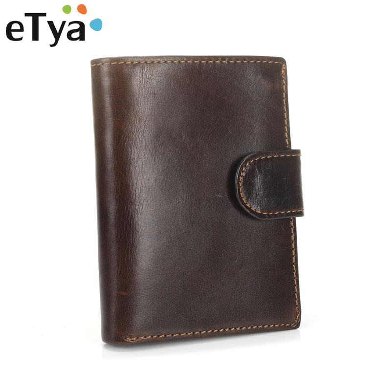 eTya Fashion Men Wallets Genuine Leather Male Card ID Holder bags Multifunction money bag Coin Purse High Quality short Wallet fashion men multifunction wallets men s long purse high capacity wallet male clutch genuine leather zipper coin bag card holder