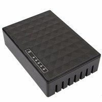 kebidumei горячая 5 порты 10/100 мбит/с коммутатора быстрого Ethernet концентратор полный половина/дуплекс сетевой коммутатор концентратор