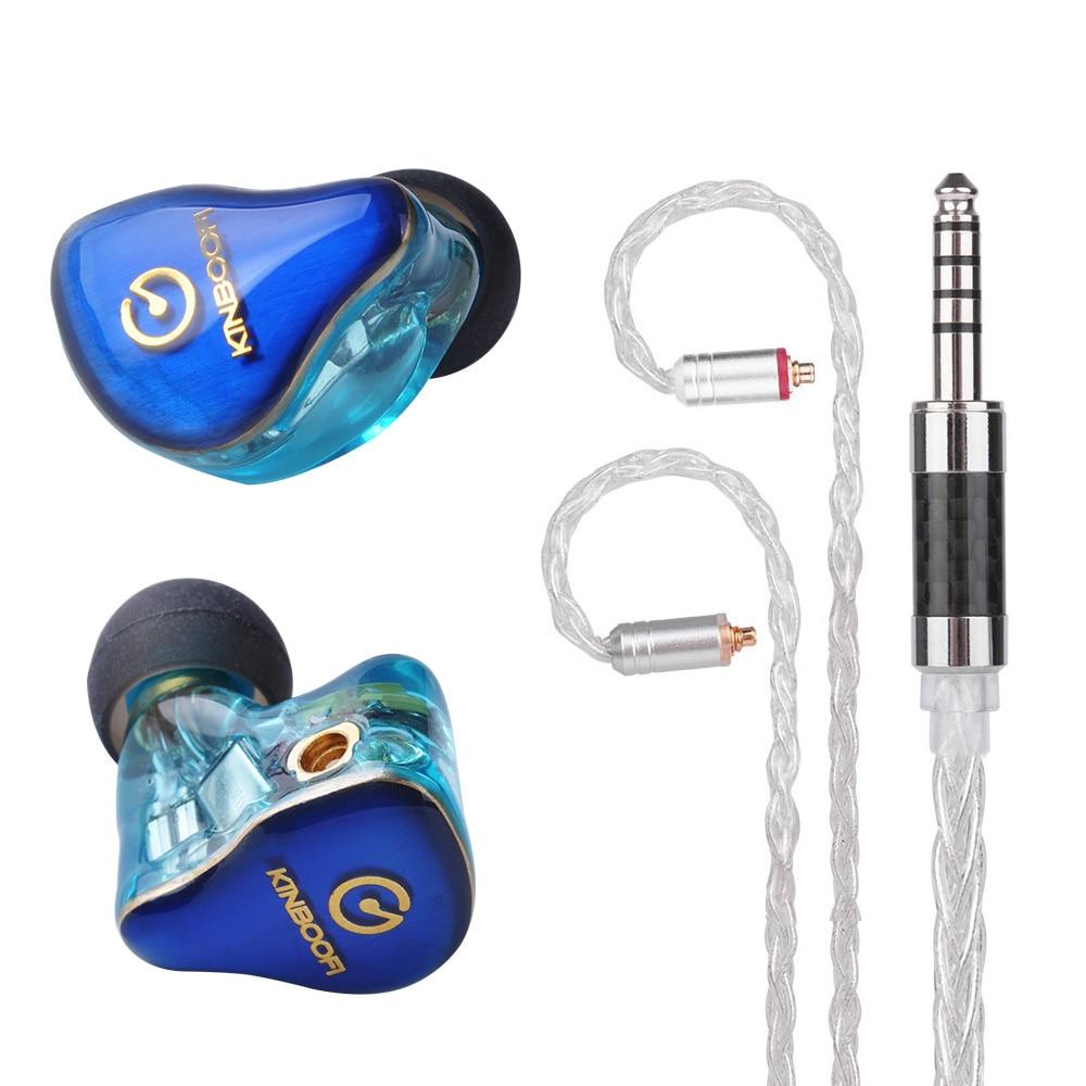 KINBOOFI MK4 4BA Balanced Armature In Ear Earphone HIFI Monitoring Earphone With Detachable MMCX Cable Cooper facepanel