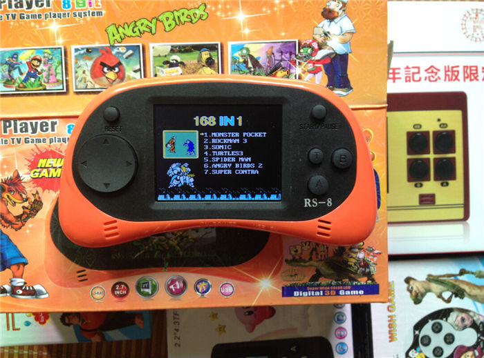Newest Upgrade handheld game console prepload 260 different free mini games 8/16 bit classic games nes best gift for kids boy