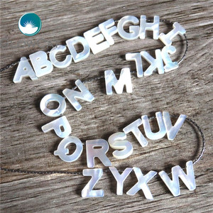 Image 5 - 26pcs Alphabet ABC For DIY Letter Shell Jewelry White Initial Hot Sale Letters A Z Natural Mother of Pearl Seashell Charms