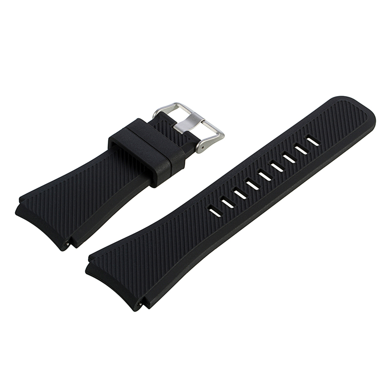 Sport Silicone Band for watches Strap for man Watch 22mm 23mm 24mm Watchband Watchstrap black black silicone rubber watchband curved end for special watches sport style watch strap 22mm for replacement bracelets promotion