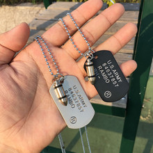 Army Bullet Tag Necklace