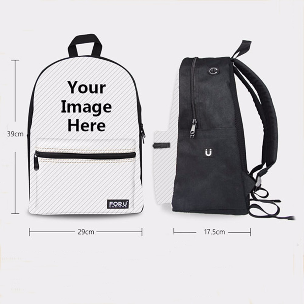 FORUDESIGNS Custom Unique Backpack High Middle School Children Kids Bagpack Canvas Teenager Boys Girls School Backpack Mochila in Backpacks from Luggage Bags
