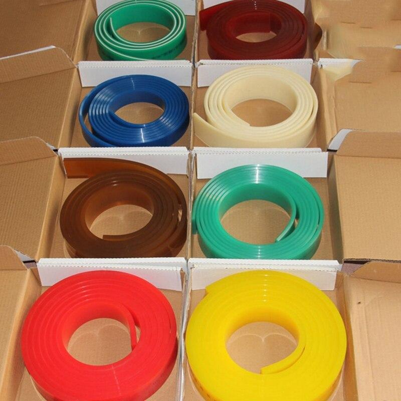 50mm*9mm Flat Silkscreen Squeegee Rubber 65A 75A DIY Silk Screen Printing Ink Scratch Board Tools Squeegee Rubber Blade