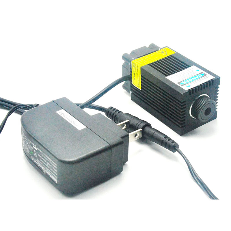 33mm*50mm Focusable 405nm 500mW Purple Violet/Blue Laser Dot Module Wood Carving W 12V AC Adapter