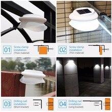 4pcs 2pcs LED Solar Power Lamp Waterproof IP55 Outdoor Garden LED Solar Light ABS Solar Lighting Pathway Fence Wall Lamps