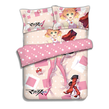 The Super Dimension Fortress Macross Freya Anime Bedding Sheet Sets Comforter Pillow Case 4PCS