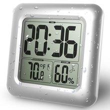 Baldr Digitale Orologio Da Parete Tazza di Aspirazione Impermeabile Cucina Bagno di Umidità di Temperatura Sensore di Tempo Orologio Doccia Orologio