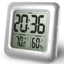 Baldr cyfrowa ściana zegar przyssawka wodoodporna kuchnia łazienka czujnik temperatury i wilgotności zegarek zegar prysznicowy