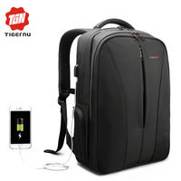2017 Tigernu New Anti Theft 15 6inch Laptop Backpack With Usb Charge Computer Bag Backpack For