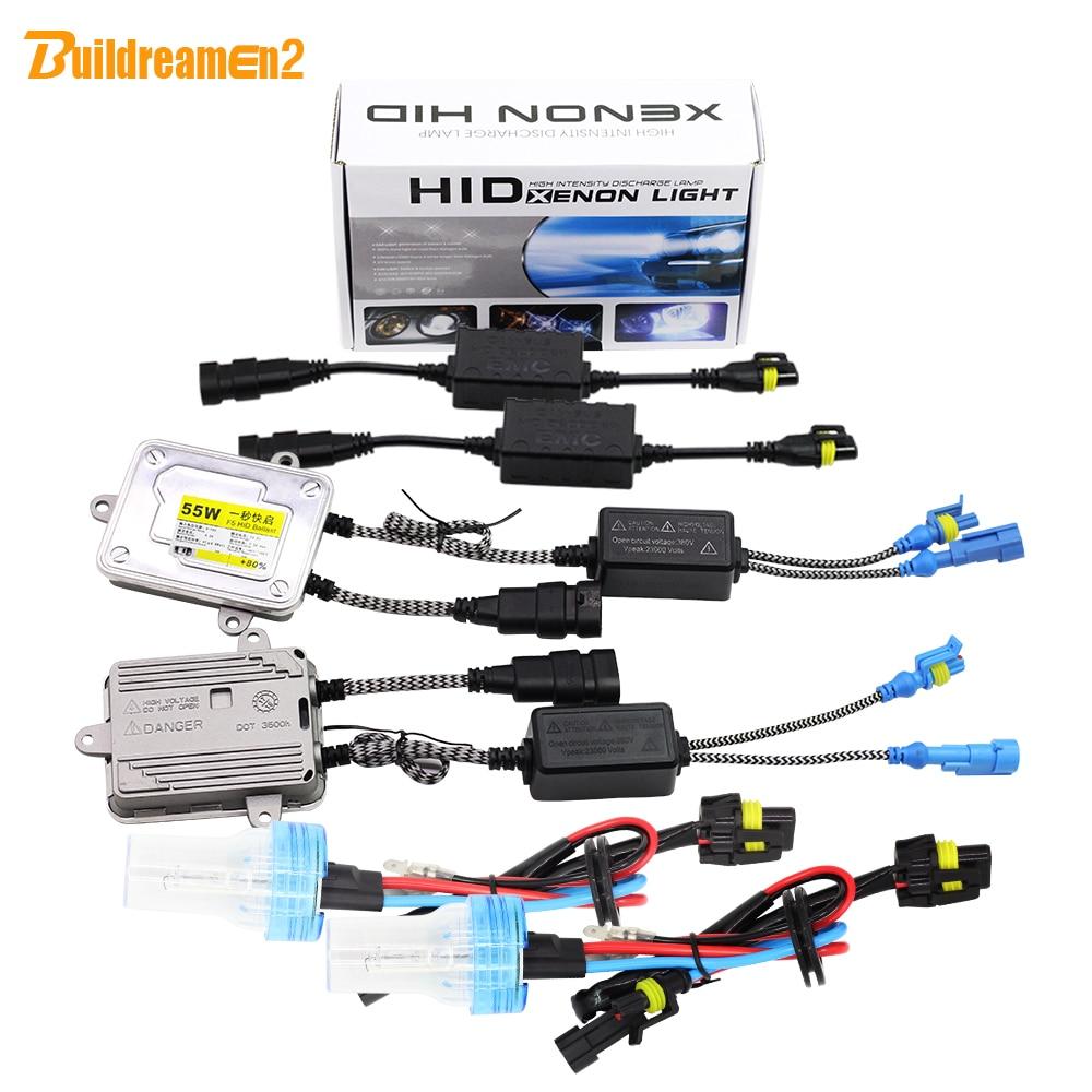 Buildreamen2 880 881 H27 55W Auto Canbus HID Xenon Kit 3000K-8000K AC Ballast Light Decoder No Error Anti Flicker Car Headlight цена