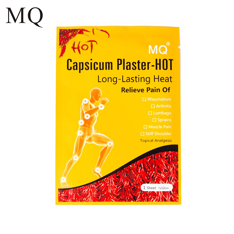 MQ 10 Pcs/ Lot Hot Capsicum Pain Relief Plaster Porous Medical Patch for Body Massager Health Care Products