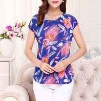 New Women Summer T Shirt Short Sleeve O Neck Print Tee Shirt Femme Vintage Casual Women
