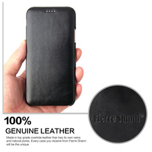 Luxury phone case For iPhone X 8 7 6 6s plus Ultra Thin fashion Genuine Leather Flip Cover capa XS Max XR Coque