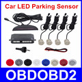 Best Quality Car LED Reverse Backup Radar LED Display Double CPU Parking Sensor Kit Black/Red/White/Silver 8 Colors & 4 Sensors